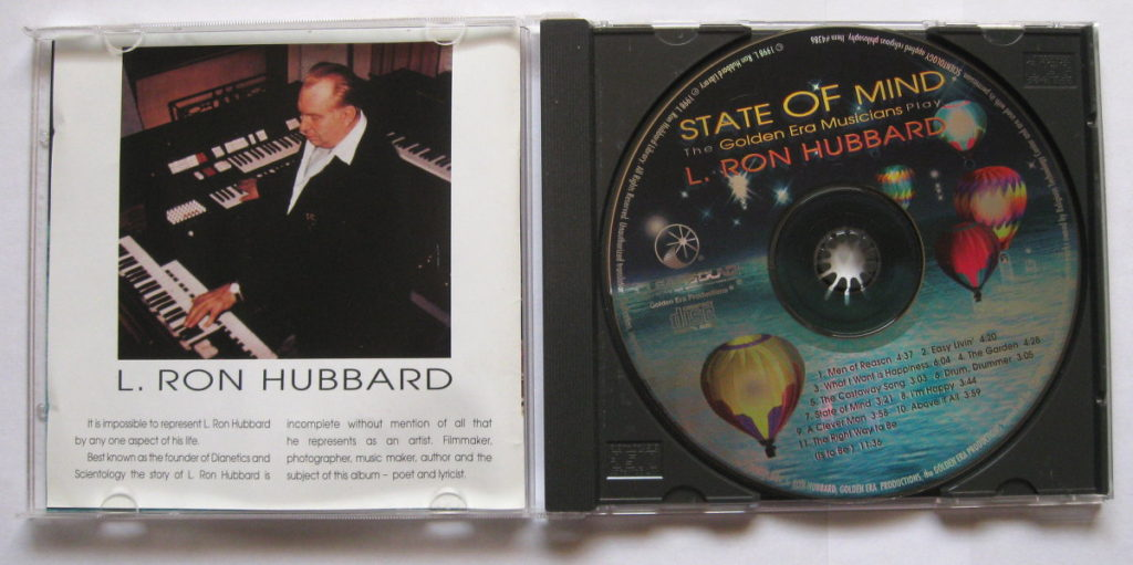 """L. Ron Hubbard CD titled """"state of mind"""""""