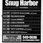 snug harbor nightclub ad